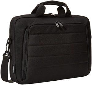 AmazonBasics Sacoche pour ordinateur portable et tablette, Noir, 40cm