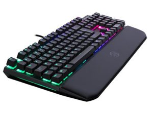 Cooler Master – MK750 Mx Red – Clavier Mécanique Gaming RGB – AZERTY (PC/Consoles) Repose-poignets amovible – Chassis aluminium