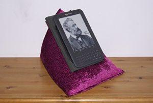 "Edge Beanbags Techbed – Le coussin pour iPad, tablettes, iPad Mini, autres tablette 9.7"",ebook readers et livres (Gin Berry)"