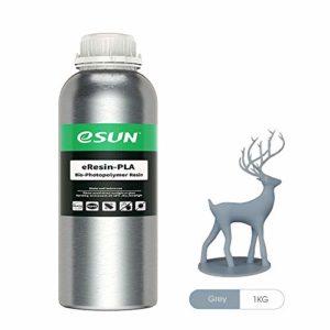 eSUN LCD UV 405nm Plant-based Résine Rapid Biodégradable Resin pour Photon LCD Imprimante 3D Liquides Photopolymère Résine, 1000ml Gris