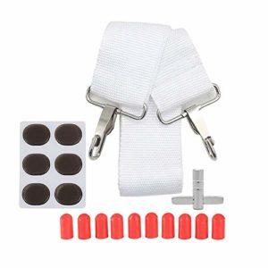 Kit D'accessoires De Caisse Claire Comprenant Une Sangle De Tambour + 10 Pcs De Pointes De Batterie en Silicone + 6pcs De Coussinets De Gel Amorti