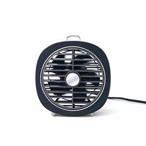 Lamkdlsjadja-HE Ventilateur de Bureau USB 4W Mini USB de Bureau Ventilateur de Refroidissement 3 Vitesse du Vent Cooler LED Night Light Outdoor Voyage (Couleur : Noir, Taille : Taille Unique)