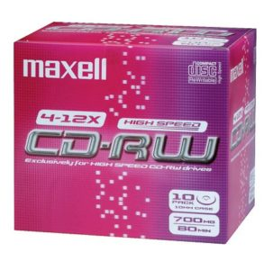 Maxell CD-RW 80 High Speed Pack 10