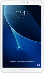 Privé : Samsung Galaxy Tab A (2016) SM-T580 Tablette tactile 10,1″ (16 Go, Android 6.0, 1 Port USB 2.0, Wi-Fi, 1 Prise jack) blanc