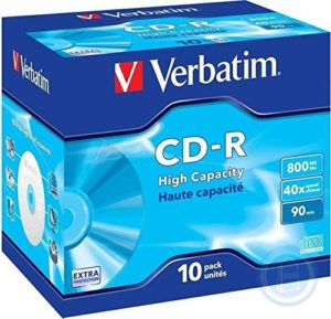 Privé: Verbatim CD-R 90 mn 40X 800 Mo Extra protection surface Jewel Case de 10