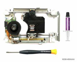 PS4 Laser Chariot KEM-490AAA avec Lentille Bloc KES-490 – Replacement Laser de Reparation Plateforme Slide Deck Motor, Blu-Ray DVD Optique Lens Carriage pour Playstation 4 CUH-11xx
