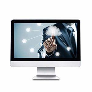 RUNNA Durable Y105 Ordinateur de Bureau PC, 19,5 Pouces, Core-I5_7440HQ, 8 Go + 128 Go, Windows 10, Intel HD Graphics 630 Core-I5_7440HQ Quad Core 2,8~3,8 GHz, WiFi, RJ45 (Argent) (Color : Silver)