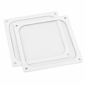 S SIENOC 2 x 140mm Boîtier en Maille Magnétique Refroidisseur Ventilateur Dustproof Filtre À Poussière Couvercle Grill pour PC Ordinateur (2 x 140mm, Blanc)