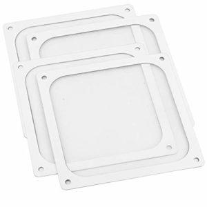 S SIENOC 4 x 120mm Boîtier en Maille Magnétique Refroidisseur Ventilateur Dustproof Filtre À Poussière Couvercle Grill pour PC Ordinateur (4 x 120mm, Blanc)
