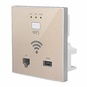 Soldmore7 Répéteur WiFi 300 Mb/s pour répéteur Wi-Fi intelligent, N° 0, or, Free Size