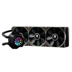 Themalright Turbo Right 360 C Refroidissement d'eau Compact 360 mm pour processeur Intel et AMD CPU 3 x 120 mm PWM 600-1800 TR/Min 19-25 DB(A), 43,77-131,3 m3/h, éclairage RVB (Aura et M