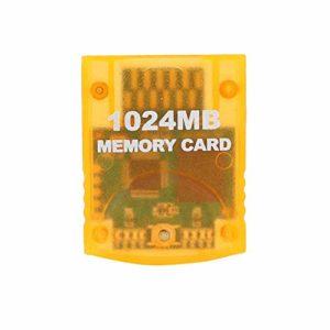 Topiky Carte mémoire de Console de Jeu, pour Machine de Console de Jeu WII Gamecube 1024 Mo de Grande capacité, Remplacement de l'accessoire de Jeu de Carte mémoire Haute Vitesse