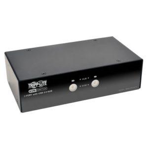 Tripp Lite B004-DPUA2-K commutateur écran, clavier et souris Noir – Commutateurs écran-clavier-souris (2560 x 1600 pixels, USB, USB, DisplayPort, Casque de 3,5 mm, 3.5mm mic, DisplayPort, USB B, USB Type-A, USB Type-B)
