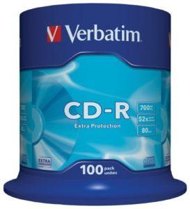 Verbatim – 100 x CD-R – 700 Mo ( 80 min ) 52x – spindle