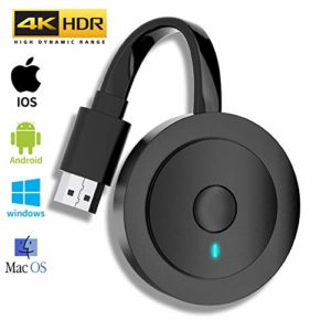 Wireless HDMI Display Adapter 4K HDR, MPIO Adaptateur d'affichage HDMI sans fil WiFi Récepteur Dongle 1080P HDMI Streaming Android / IOS / Window / Mac OS (Supporte Miracast, DLNA, Airplay)