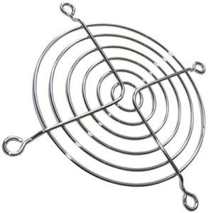 AERZETIX: 5x Grille chromée de protection 92x92mm ventilation pour ventilateur boîtier ordinateur pc C15096