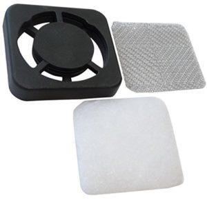 AERZETIX: Grille de protection 40x40mm ventilation avec écran EMI et filtre poussière pour ventilateur boîtier ordinateur pc C15151