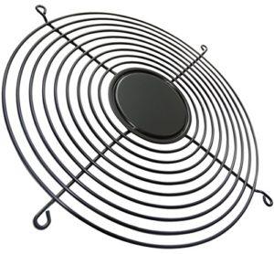 AERZETIX: Grille noire de protection 254x254mm ventilation pour ventilateur boîtier ordinateur pc C15110