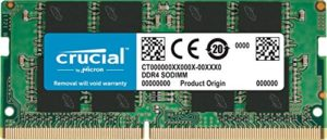 Crucial CT8G4SFD824A 8Go (DDR4, 2400 MT/s, PC4-19200, DR x8, SODIMM, 260-Pin) Mémoire