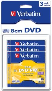 DVD+RW BLISTER/ 1.4GB 4X 3PK 8CM SLIM /DATA STORAGE