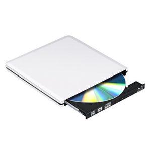 Externe lecteur Blu Ray DVD 3D, USB 3.0 graveur de disque lecteur Slim BD CD DVD RW ROM Writer pour PC Mac Windows 7 8 10 XP