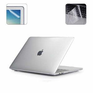i-Buy Couverture Coque Mat Protection pour Macbook Pro 15″ avec Touch Bar & ID (A1707,version 2016.10) + Clavier Coque de Protection + Film de protection d'écran- Clair