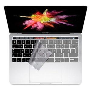 i-Buy Français Clavier Coque de Protection / Couverture AZERTY pour MacBook Pro 13″ /15″ avec Touch Bar & ID – Transparent / Clair