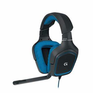 Logitech G430 Micro Casque Gaming Bleu/Noir