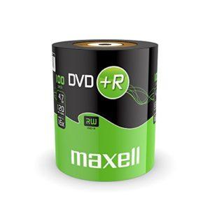 MAXELL DVD+R, 120 Minuten, 4.7 GB Data, 16x, 100er Shrink