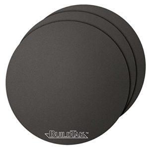 BuildTak BT65DIA-3PK Lot de 3 films d'adhésion ronds pour impression 3D Noir Ø 165mm
