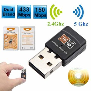 Carte réseau sans fil Récepteur sans fil Wifi USB sans fil 2.4G/5G sans fil 600Mbps Adaptateur sans fil WiFi avec antenne