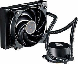 Cooler Master MasterLiquid Lite 120 CPU Water Cooler 'Radiateur de 120mm, 1x MasterFan Pro 120 AB PWM Ventilateur, LED Blanche' MLW-D12M-A20PW-R1