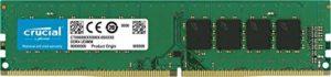 Crucial CT4G4DFS824A 4Go (DDR4, 2400 MT/s, PC4-19200, SR x8, DIMM, 288-Pin) Mémoire