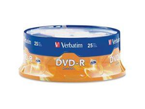 Disques DVD-R, 4.7Go, 16x, Spindle, Argenté mat, 25/Lot