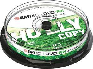 EMTEC DVD-RW 4,7GB 1-4x Cake Box (10)