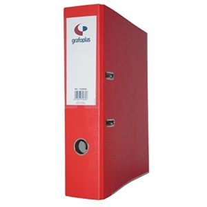 Grafoplas Classeur à levier de 45mm dIN-a4–Carton de 2.5mm–grafcolor Rouge –
