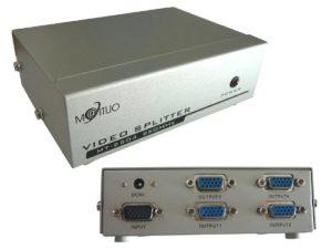 KALEA-INFORMATIQUE © – Splitter VGA 4 Ports – 250MHz – Affichez l'image d'une seule source vidéo VGA sur 4 écrans en même temps !