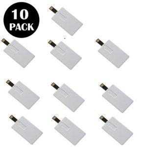 Lot de 10pack cartes crédit Lecteurs Flash USB 16 Go Small Card-Rectangle