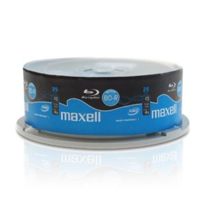 Maxell – 25 x BD-R – 25 Go (135 minutes) 4x – surface imprimable large – spindle