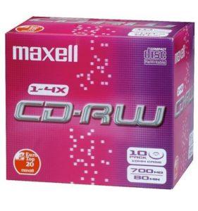 Maxell CD-RW 80 Pack 10