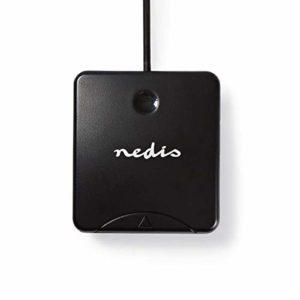 Nedis CRDRU2SM1BK Lecteur de Carte | Carte à Puce Smart Card | Logiciel Inclus | USB 2.0