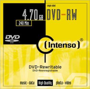Pack de 10 DVD RW (-) (4,7 GB, boîtier Crystal)