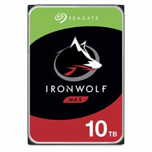 Seagate ST10000VN0004 IronWolf 10 TB, disque dur interne, 8,9 cm (3,5 Zoll), 256 MB Cache, 7200 RPM, SATA 6Gb/s