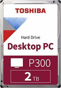TOSHIBA P300 disque dur interne 2 To – 3,5″ (pouces) – disque dur SATA (HDD) – 7200 tours par minute (tpm) – 6 Go/s – pour ordinateurs de jeu, PCs de bureau, stations de travail, etc.