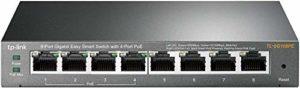 TP-Link TL-SG108PE Easy Smart Switch PoE 8 Ports Gigabit Dont 4 Ports PoE (Bureau, Boîtier Métal)