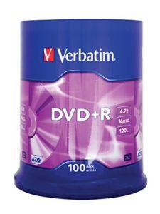 Verbatim 43551DVD + R PC commutation Argent