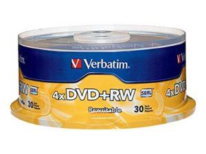 Verbatim DVD+RW 4.7GB 4X Branded 30pk Spindle
